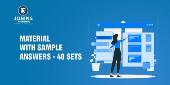 material with sample answers